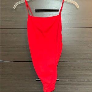 Red Forever 21 bodysuit